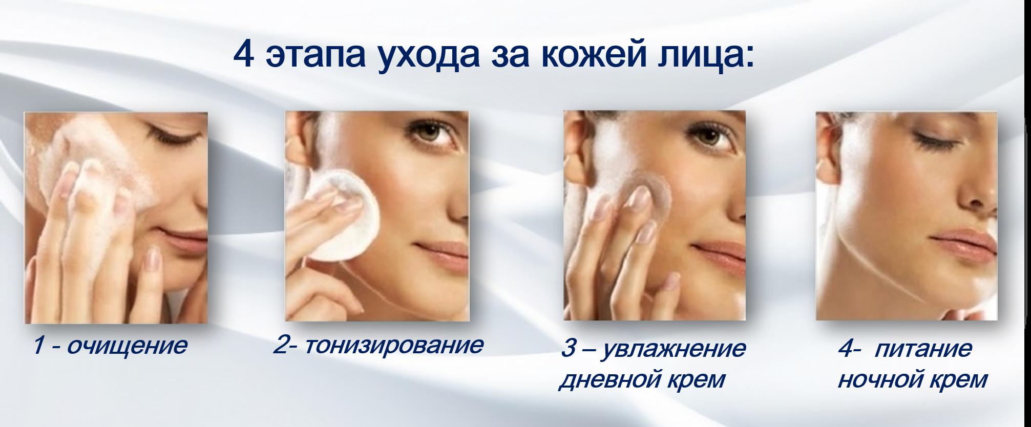 4 этапа ухода за кожей лица